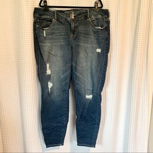 Like NEW Torrid Distressed Skinny Jean